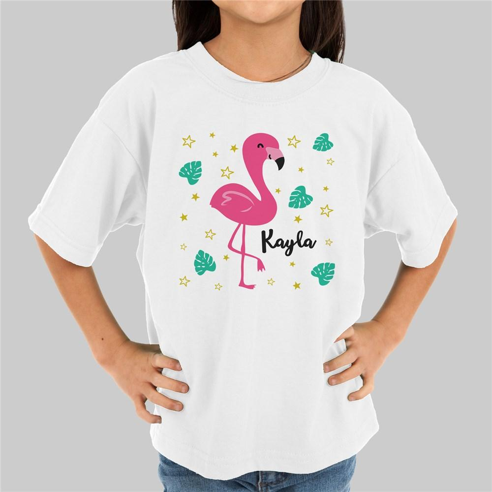 Personalized Flamingo Girl's Youth T-Shirt
