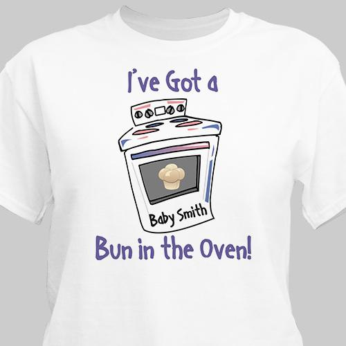 Personalized Baking Bun Maternity T-Shirt