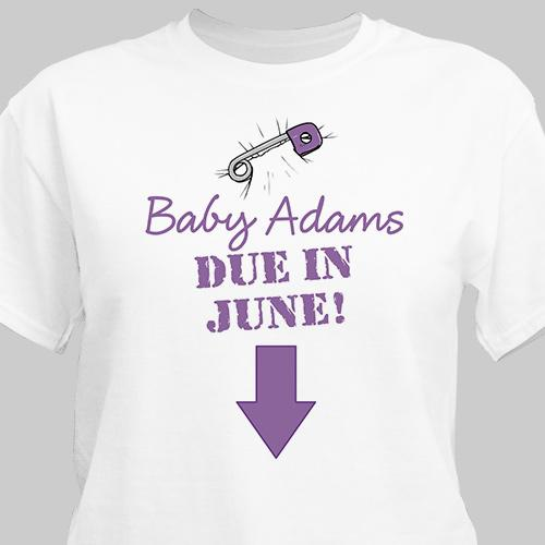 Personalized Due In Custom Date Maternity T-Shirt