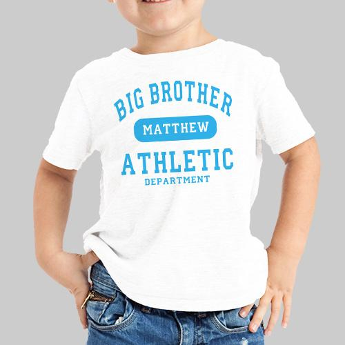 Personalized Big Brother Athletic Dept. Kids T-Shirt