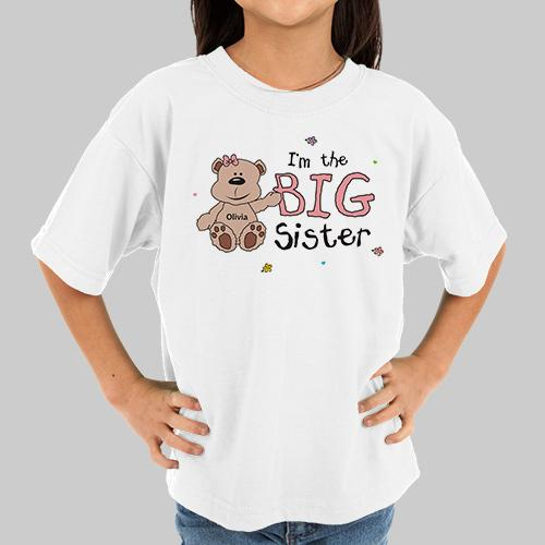 Personalized Big Sister T-Shirt Youth
