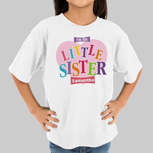 Personalized Big Sister Heart Kids T-Shirt