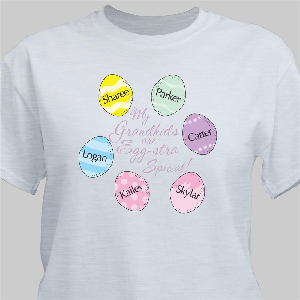 Personalized Eggstra Special Easter Egg Shirt
