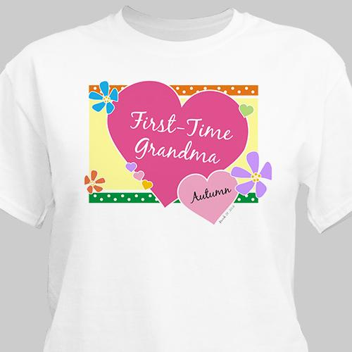 Personalized New Grandma T-Shirt