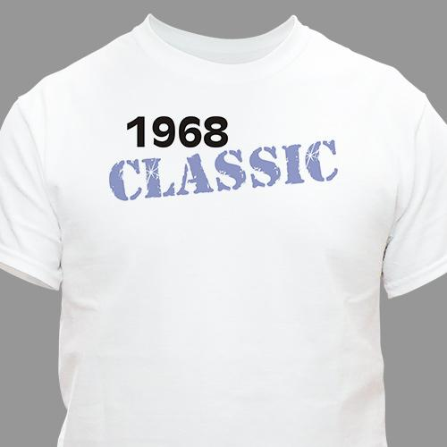 Personalized Classic Birthday Year T-Shirt