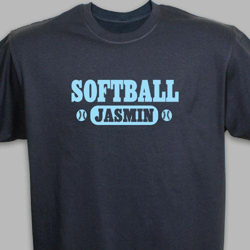 Personalized Softball Sports T-Shirt