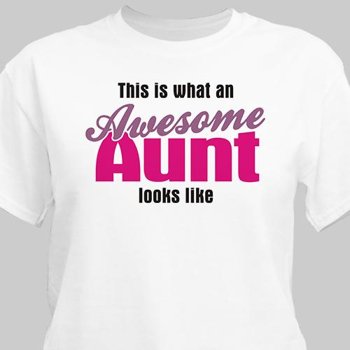 Personalized Awesome Aunt T-Shirt