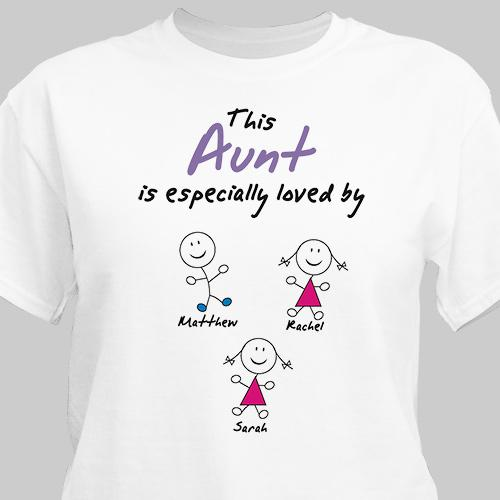 Personalized Especially Loved By Aunt T-Shirt