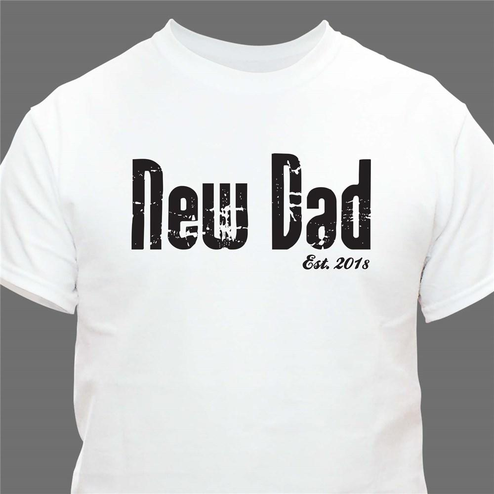 Personalized New Daddy T-Shirt