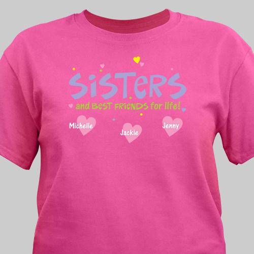 Personalized Best Friend Sister T-Shirt