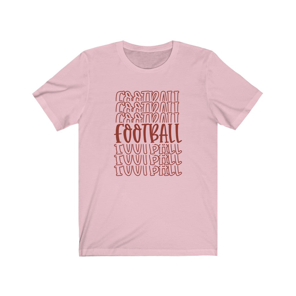 Football Word Mirror T-Shirt - Short Sleeve Tee