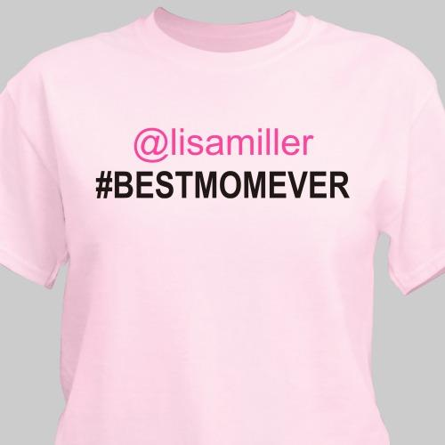 Personalized Best Mom T-Shirt