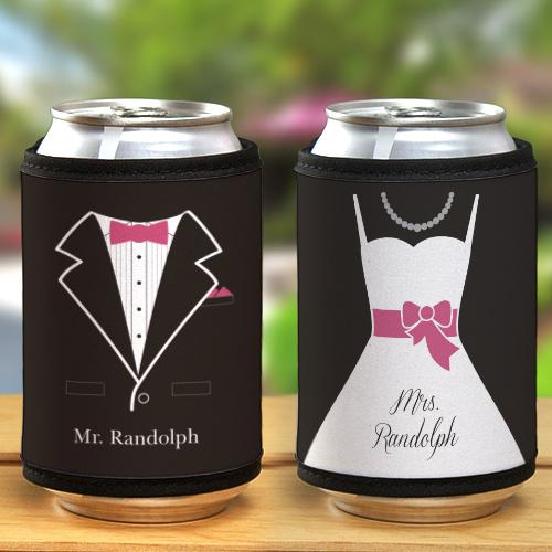 Personalized Wedding Can Holders