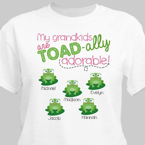 Personalized My Grandkids Toadally Adore Me T-Shirt