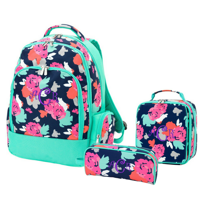 Personalized Matching Backpack Lunchbox & Pencil Case Set