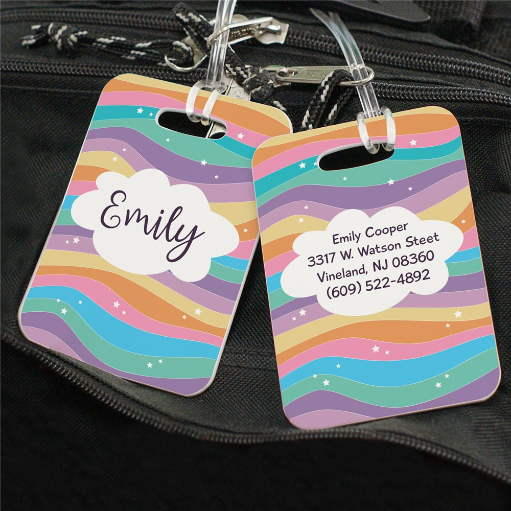 Personalized Rainbow Pattern Luggage Tag