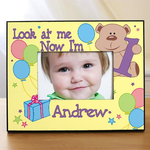 Personalized Children's Birthday Frame - Look At Me, 1,2,3