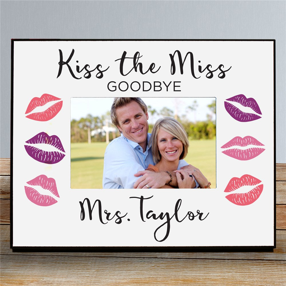 Personalized Kiss The Miss Goodbye Personalized Printed Picture Frame