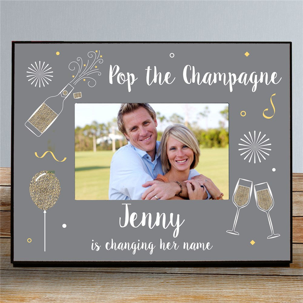 Personalized Pop The Champagne Personalized Printed Picture Frame