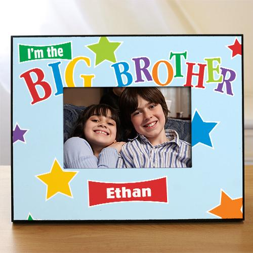 Personalized star Big Brother Printed Frame
