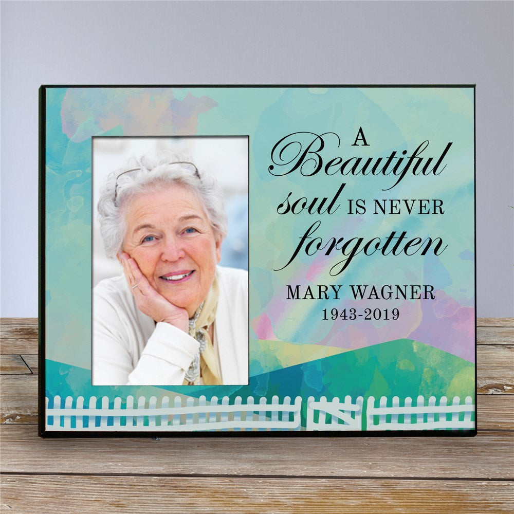 Personalized A Beautiful Soul Is Never Forgotten Memorial Frame