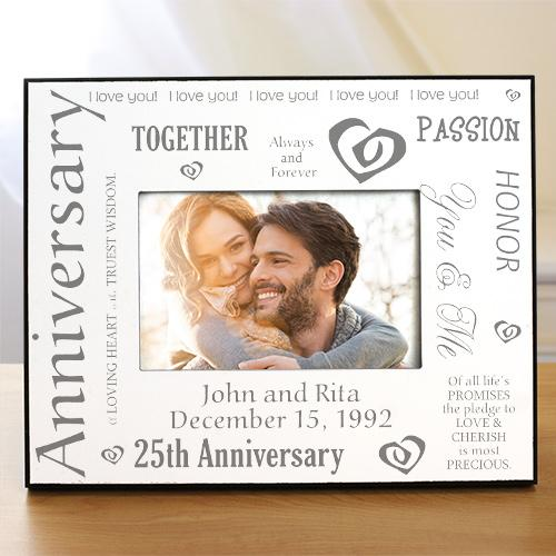 Personalized Our Silver Anniversary Printed Frame