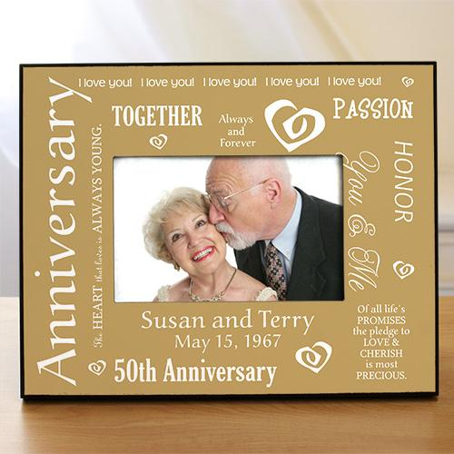 Personalized Our Golden Anniversary Printed Frame