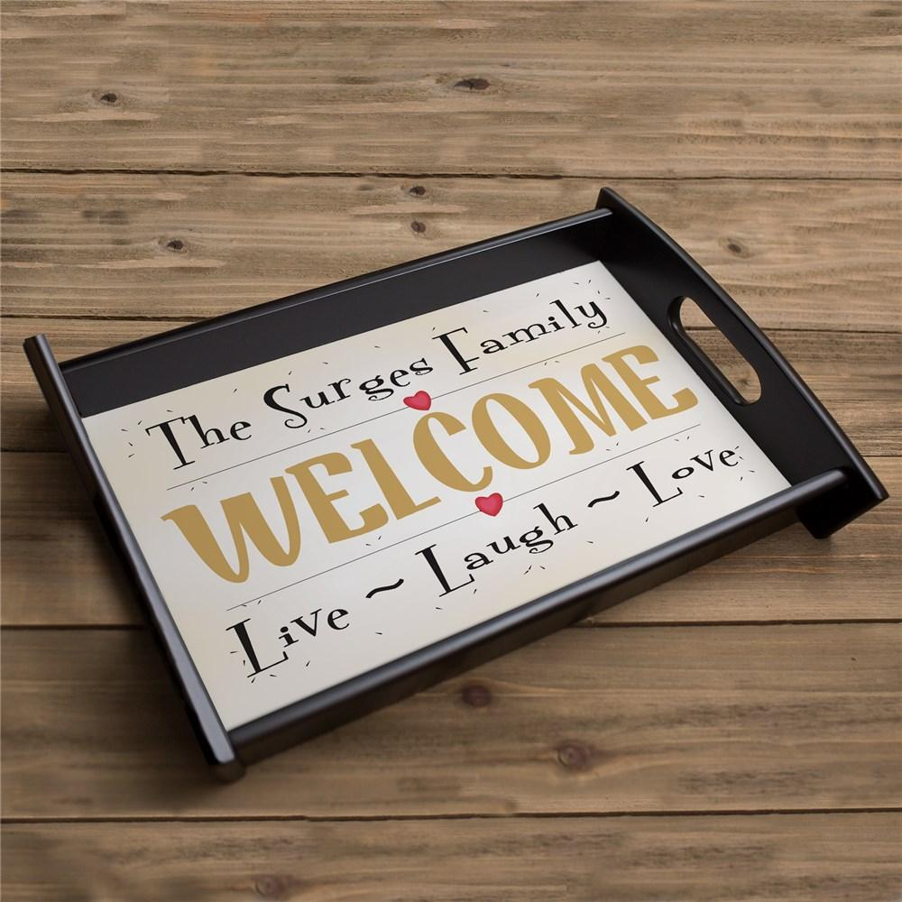 Personalized Live, Laugh, Love Serving Tray