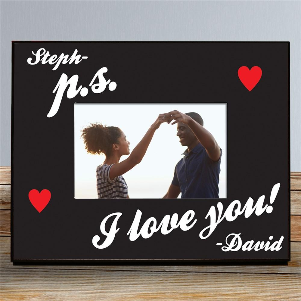 Personalized P.S. I Love You Picture Frame - Valentine's Day Gift