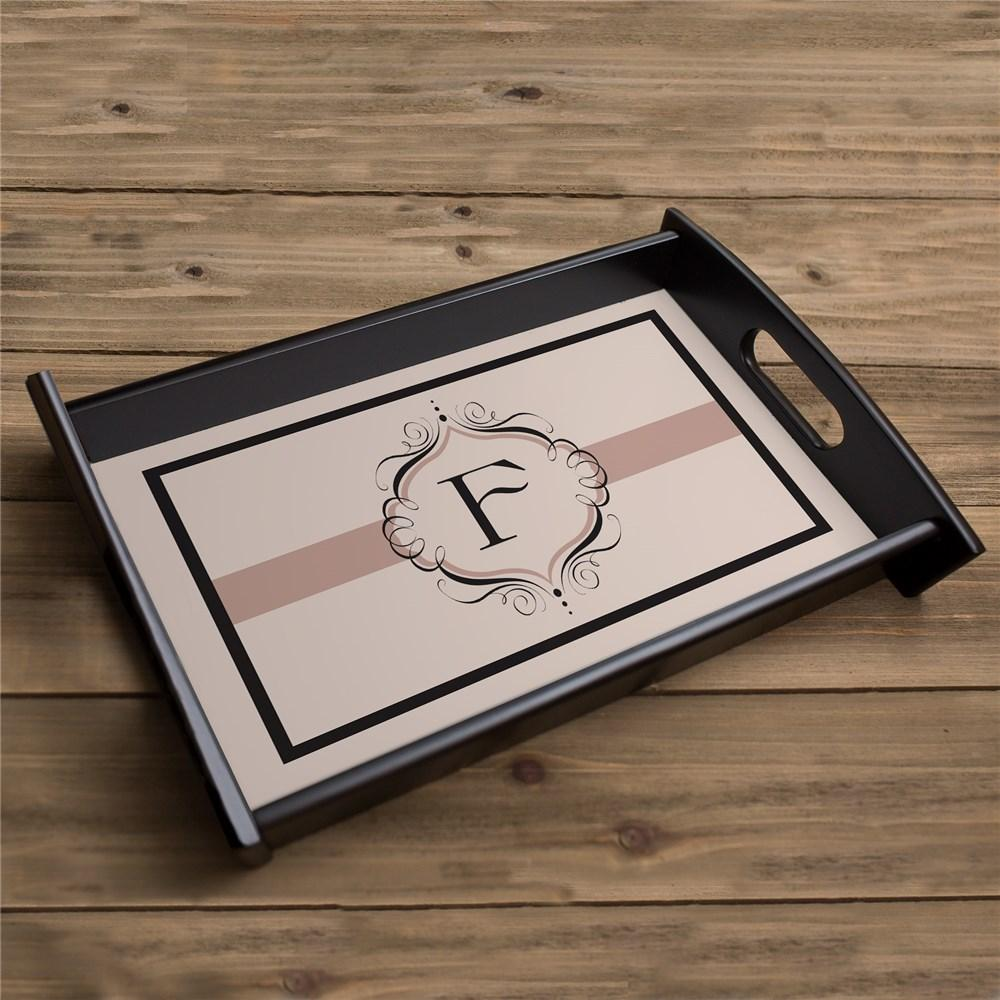 Personalized Monogram Serving Tray