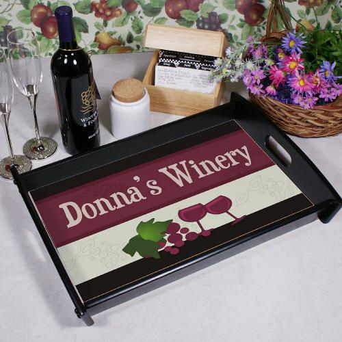 Personalized My Winery Tray