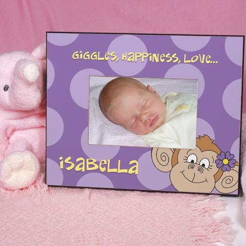 Personalized Purple Monkey Frame