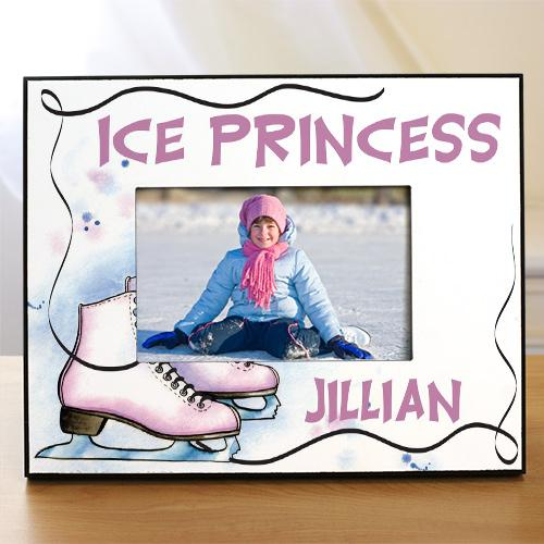 Personalized Ice Skating Printed Frame