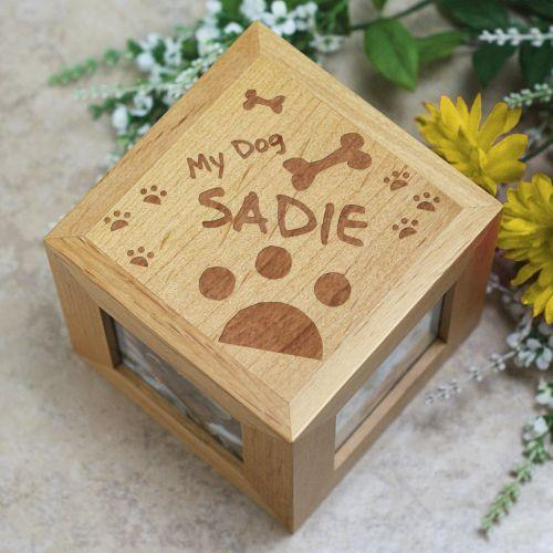 Personalized Engraved My Dog Photo Cube