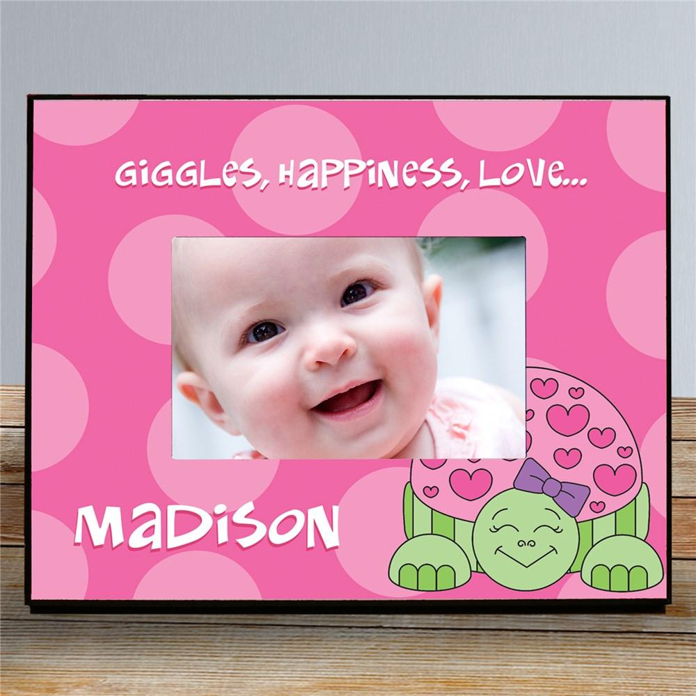 Personalized Pink Turtle Picture Frame