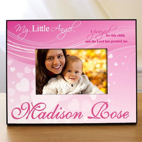 Personalized Pink Angel Frame