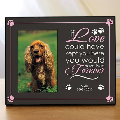 Personalized Forever Love Pet Remembrance Frame