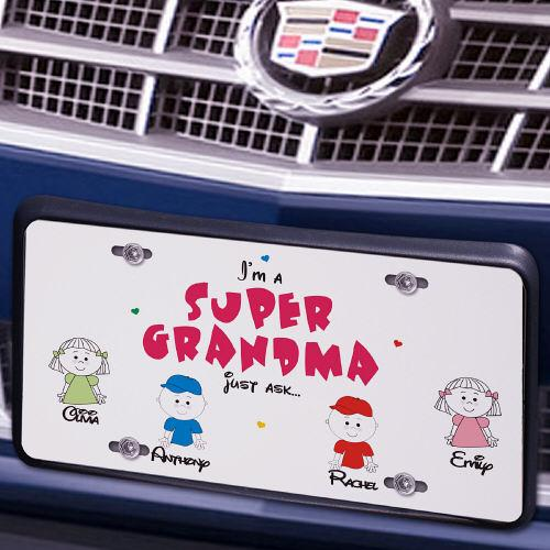 Personalized Super Grandma License Plate