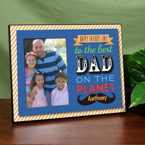 Personalized Best Dad Printed Frame