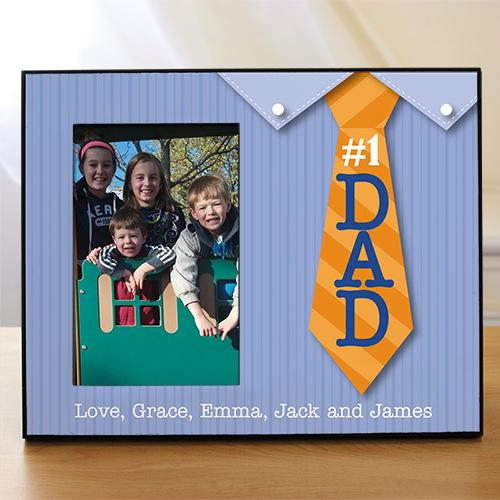 Personalized#1 Dad Printed Frame