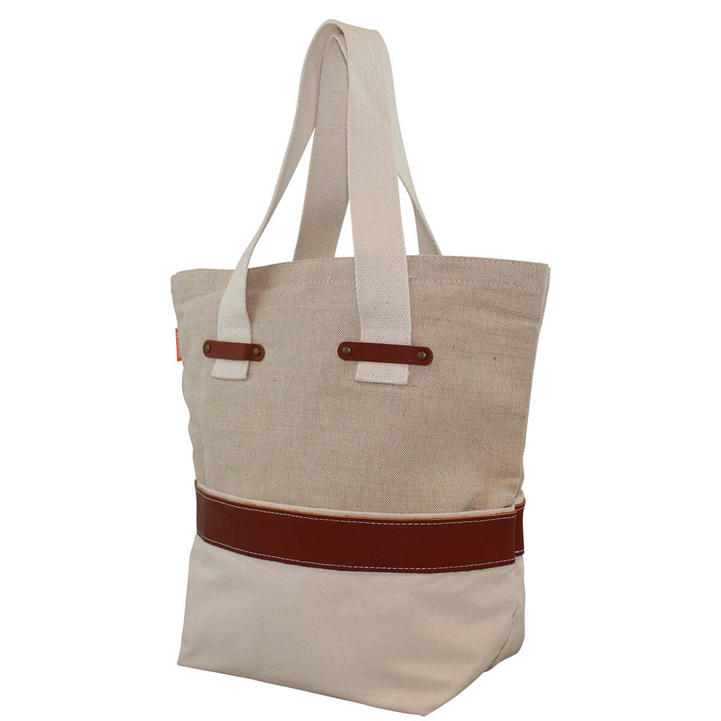 Personalized Jute and Canvas Tote