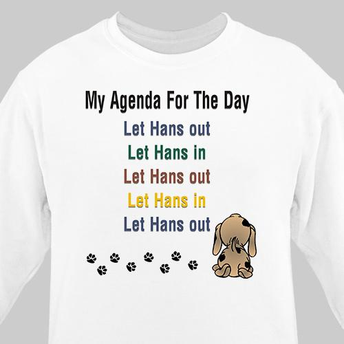 Personalized Agenda For The Day Pet Sweatshirt