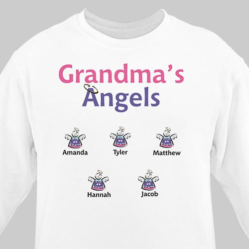 Personalized Grandma's Little Angels Sweatshirt