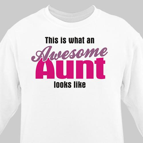 Personalized Awesome Aunt Sweatshirt