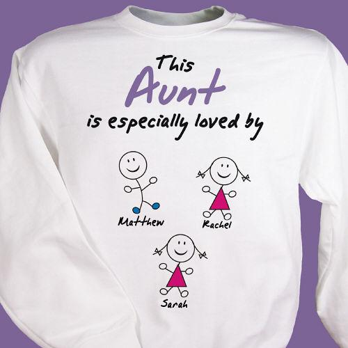 Personalized Especially Loved By Aunt Sweatshirt