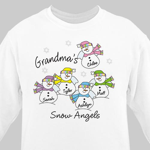 Personalized Snow Angels Sweatshirt
