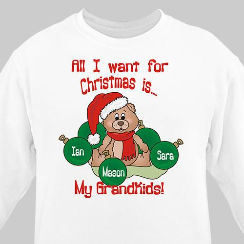 Personalized Custom All I Want For Christmas Sweatshirt