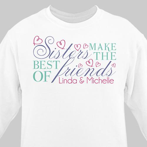 Personalized Sisters Friendship Sweatshirt