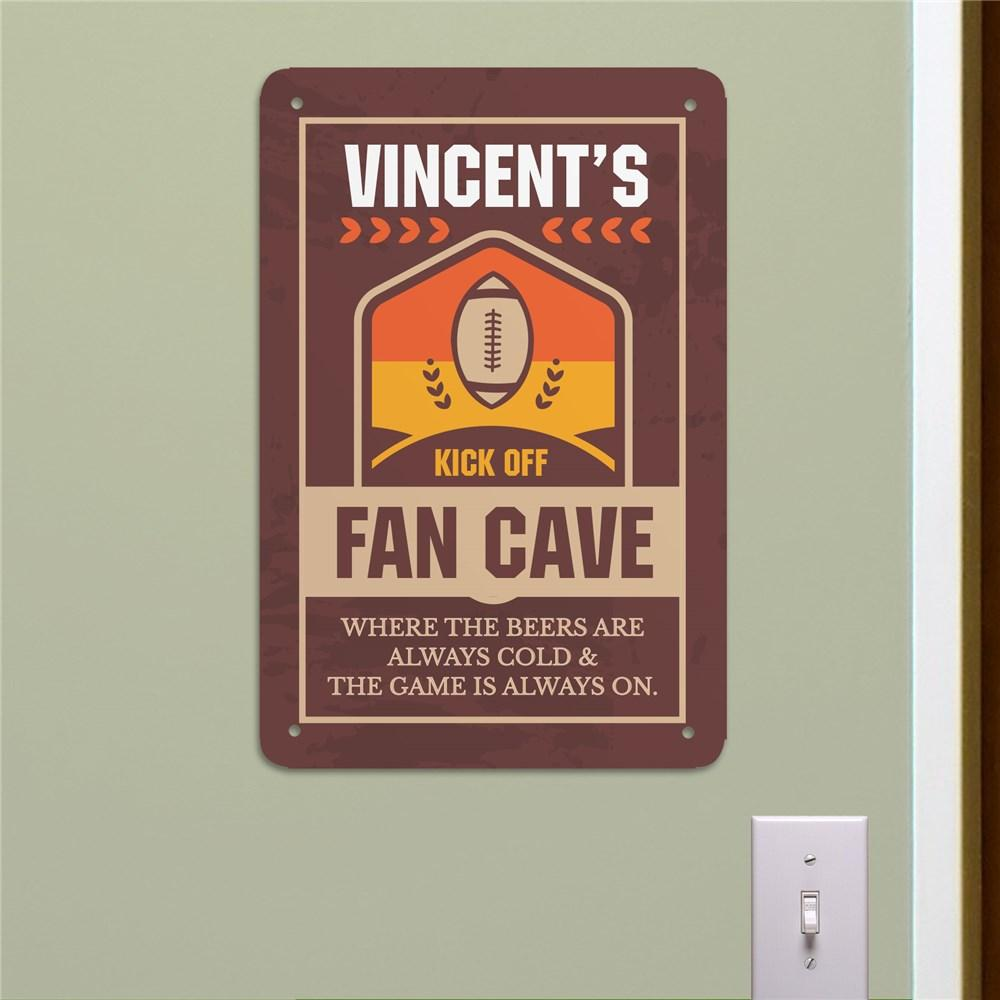 Personalized Fan Cave Metal Wall Sign
