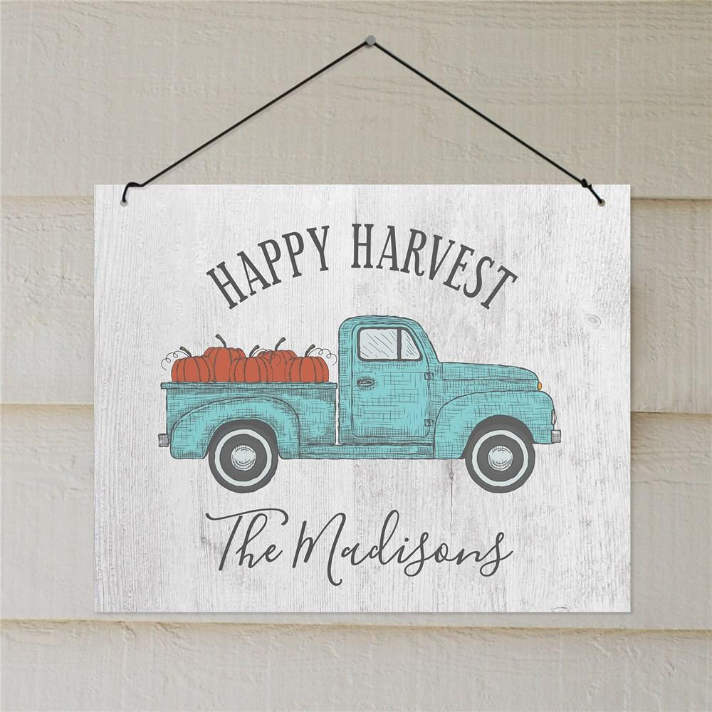 Personalized Happy Harvest Wall Sign